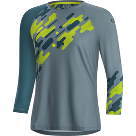 GORE WEAR C5 Trail 3/4 Jersey Dames, nordic blue/citrus green